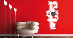 Change the look of your rooms in a heartbeat with Dezign With a Z's Neon Clock wall stencils. Wall Art Designs, Vinyl Designs, Wall Sticker, Wall Decals, Unique Sofas, Neon Clock, Küchen Design, Led, Home Remodeling