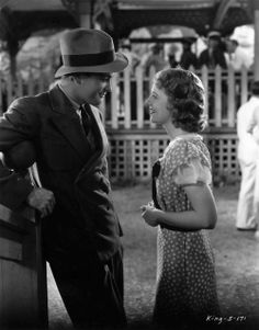 Lew Ayres & Janet Gaynor at the State Fair, 1933