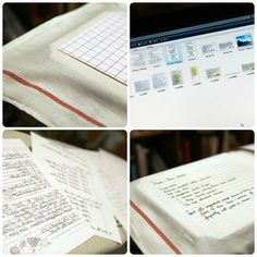 A wonderful gift - handwritten recipes transferred onto tea towels.