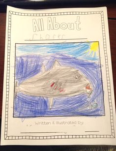 Informative writing can be tricky in first grade, but this all about book is the perfect way for students to research their own animal and publish a book