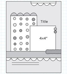 Scrapbook Page Sketch 198