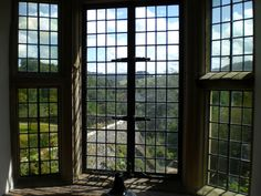Looking out over Haddon's gardens.