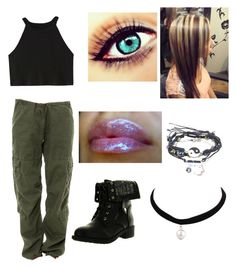 Early 2000s teen movie protagonist by arannomnom on Polyvore featuring polyvore, fashion, style, Rothco, Refresh and clothing