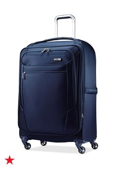 Things you must register for: quality luggage. Make sure your wedding registry includes all the suitcase sizes that you'll both need in the future. We say choose a set in a beautiful color like this poseidon blue Samsonite Sphere Lite expandable spinner suitcase. Find it only at Macy's!