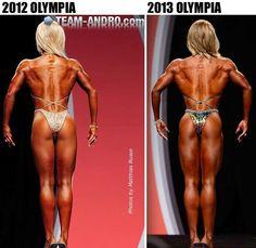 Nicole wilkins 2012 amp 2013 olympia comparison