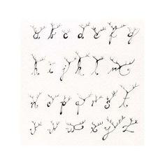 Deer Antler Alphabet Letters | Antler Alphabet Print