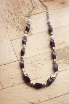 amethyst necklace Gemstone necklace amethyst by AFRAcollection