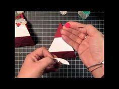 Stampin' Up! Tutorial- Petal Cone Santa for Christmas - YouTube