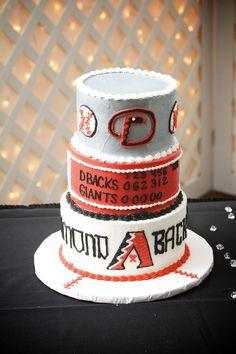 Arizona Diamondbacks Groom's Cake #baseball #wedding #diamondbacks