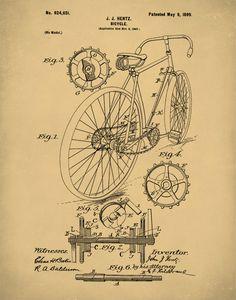 Monocycle vintage patent blueprint graphic art on wrapped canvas monocycle vintage patent blueprint graphic art on wrapped canvas graphic art canvases and vintage malvernweather Images