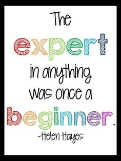 The inspirational quote in this free printable reminds me not to be too tough on myself when I am learning something new.