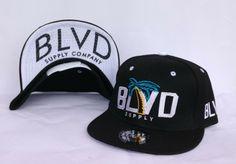 6511c06a2db BLVD SUPPLY Snapback Flat Brim Hats Black