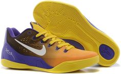 best website 3e123 d8335 Nike Zoom Kobe 9 IX Orange Blue Black Yellow New Jordans Shoes, Buy Nike  Shoes