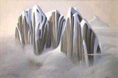 Ken Harrison - Brightening up the Bugaboos 24 x 36 Oil on canvas (2021) Bugaboo, Oil On Canvas, Landscape, Artist, Scenery, Artists, Corner Landscaping