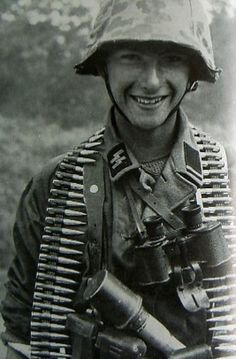 A very young Waffen SS soldier.