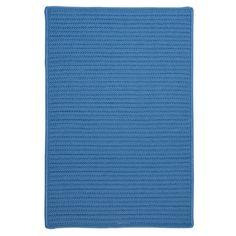 Charlton Home Glasgow Solid Blue Area Rug Rug Size: