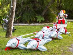 Santa in Sanibel, Florida. By Jens Hoyer.