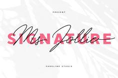 Jollie Signature by FadeLine Studio on Script Logo, Handwritten Fonts, Comic Sans Font, Signature Fonts, Wedding Fonts, Photoshop Illustrator, Premium Fonts, Name Cards, Book Cover Design