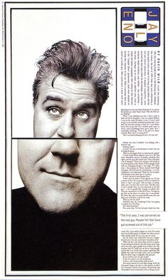 Fred Woodward & Gail Anderson • Jay Leno, Rolling Stone magazine, 1995