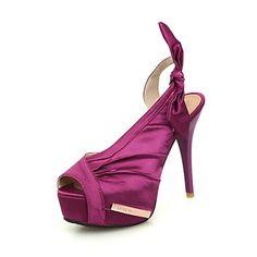 De las mujeres del satén de tacón de aguja Sling Back Sandals Shoes (más colores) – USD $ 34.99