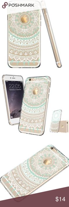 Mint Boho Clear TPU Hard Case For iPhone 6 Boho Case For IPhone 6. This Is A Beautiful Mint Color Case That Is See Through And UV Protected So It Is Not Going To Turn Yellow From The Sun. Fits iPhone 6. Boutique Accessories Phone Cases