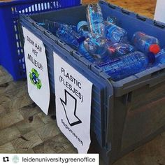 #Repost @leidenuniversitygreenoffice  Plastic recycling initiative by employees at Leiden University Law Library! #greenheroes #recycling #noplasticsoup
