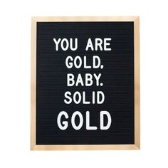 GOLD 16x20 inch Slotted Felt Letter Board with 3/4 inch 290
