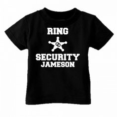 RING SECURITY RING BEARER CUSTOM WITH NAME YOUTH OR TODDLER SHIRT NE | THEBRIDALBOTIQUE - Clothing on ArtFire