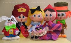 Kit Bonecos Alice no País das Maravilhas