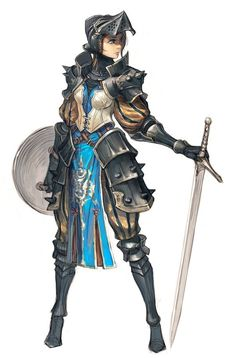 Young Knight girl artwork -- It is not uncommon to see young women ...