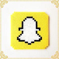 Snapchat logo perler beads by perler_art