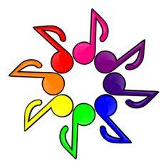 Music Color White Background clip art - vector clip art online, royalty free & public domain