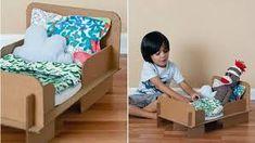 dolls bed diy cardboard - Google Search Tenerife, Diy Cardboard, Diy Bed, Diy Doll, Toddler Bed, Dolls, Furniture, Cheesecake, Home Decor