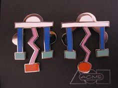 Ettore Sottsass (designer), Fulmine earrings, 1985
