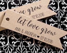 Let Love Grow Tag Wedding Favor Tag Seed Bomb Tag by iDoTags