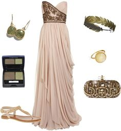 Obsessed with this look! Love this Greek Goddess inspired dress and accessories! Beautiful color too!