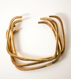 Square Cuff Bracelet by Jennie Claire on Scoutmob Shoppe. Warm bronze bangles with a geometric edge.