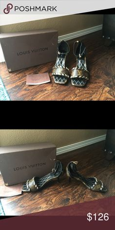 Louis vuttion rep heels Replica heels never worn very high-quality just want my money out of them they sent me wrong size Louis Vuitton Shoes Heels
