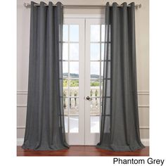 guest room  - Faux Linen Grommet Top Curtain Panel - Overstock Shopping - Great Deals on EFF Curtains