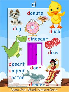 'd' words phonics poster - Free Download!