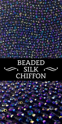 Iridescent Beaded and Sequined Silk Chiffon Fashion Vocabulary, Kinds Of Fabric, Fabric Names, Sewing Projects For Beginners, Embroidery Dress, Embroidered Silk, Fabric Swatches, Fashion Fabric, Goldfish