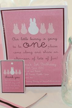 Pink & Brown Bunny Party Birthday Party Ideas | Photo 3 of 20 | Catch My Party