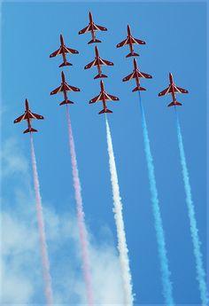 Britain's Royal Air Force Aerobatic Team, Southport, England Copyright: David Ramsbottom