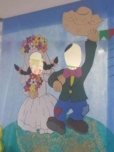 Painel noivos caipira  foto