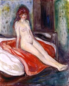 Nude Seated on the Bed Edvard Munch - 1902