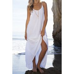 Cheap maxi dress women, Buy Quality maxi dress directly from China beach dress Suppliers: NEW arrival Maxi Dress Women Sexy Backless Deep O-Neck loose casual split Beach Dresses sexy sling Vestidos Largos Robe Femme White Maxi Dresses, Trendy Dresses, Casual Dresses, White Dress, Cheap Dresses, Dresses Dresses, Cheap Clothes, Long Dresses, Formal Dresses