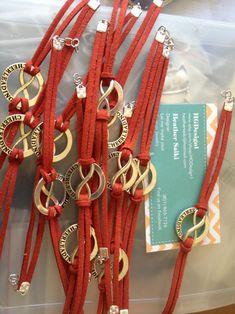 Cheerleading Forever Bracelet....custom colored strap