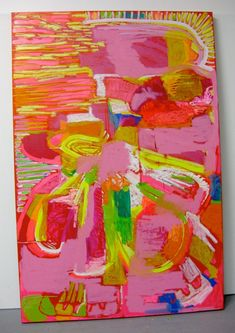 """New find!  @clairedesjardins """"An exercise in color"""" Her paintings are so colorful and full of life"""