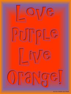 Clemson orange & purple!