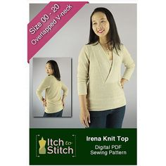 Sewing Clothes Irena Knit Top is a cozy, casual top pattern. The wide, flat-bottom V front band reaches the base of your neck to keep you warm on cold days. If you are looking to sew up a sweater this is a great option. Couture, Make Your Own Clothes, Sewing Hacks, Sewing Tips, Sewing Ideas, Sewing Crafts, Sewing Tutorials, Love Sewing, Fall Sewing
